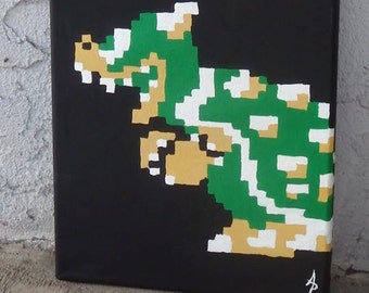Retro Bowser Painting