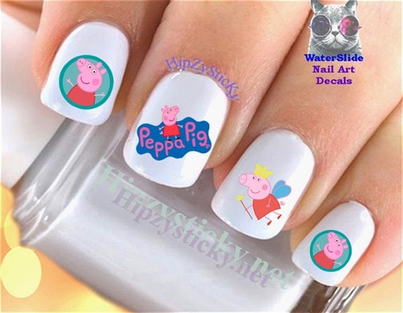 Like this item? - CHARACTER Nail Decals Peppa Pig Children Cartoon