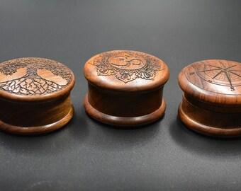 """2"""" 2pc Wooden Herb Grinder"""