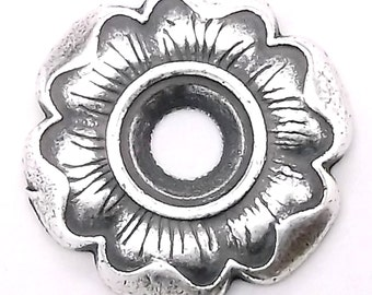 "Flower Bezel Concho in Antique Silver 3/4"" 7785-04"