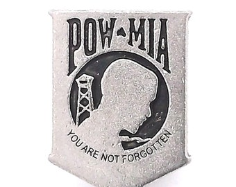 "Concho POW/MIA 1"" Nickel Screwback 1799-02"