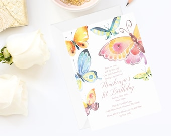 Butterfly Invitation | Butterfly Birthday Invitation | Butterfly Party