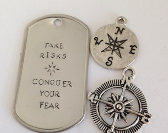 Take Risks, Conquer Your Fear Keychain