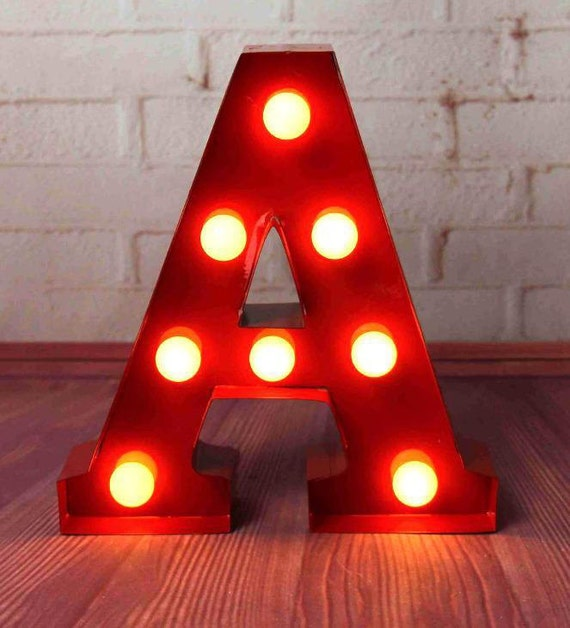 Carnival light up letter lights a to z all by for Light up letters