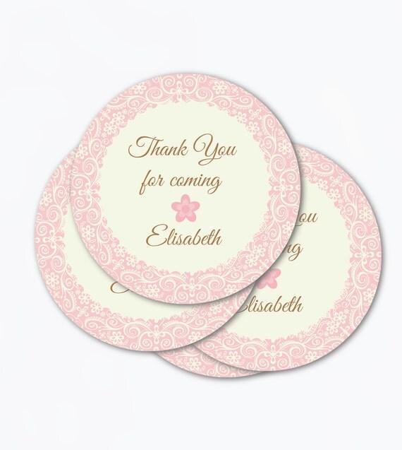 vintage elegant tags  printable pdf  favor lace doily elegance