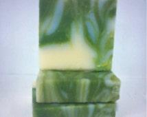 COOL FRESH ALOE Organic Shea Butter Handmade Soap