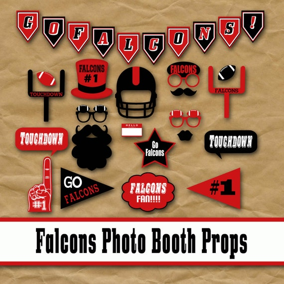 Atlanta Falcons Football Printable Photo Booth Props