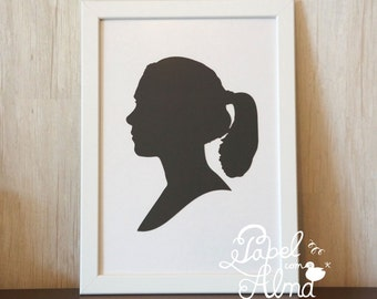 Personalized Papercut Silhouette - various colors available