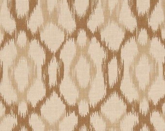 Brown Fabric | Ikat Beige Tan Brown | fabric Fat Quarter