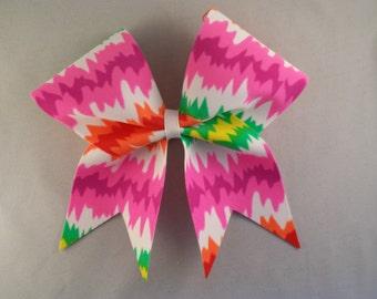 Pretty Spring Tie-Dye Look Cheer Bow