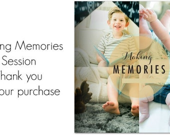 Making Memories Session + Book