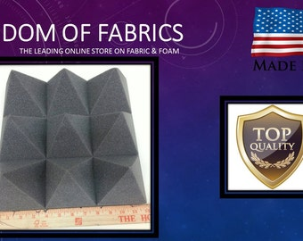 12 Pack of (12x12x4)Inch Acoustical Pyramid Foam Panel for Soundproofing Studio & Home Theater-Charcoal Grey