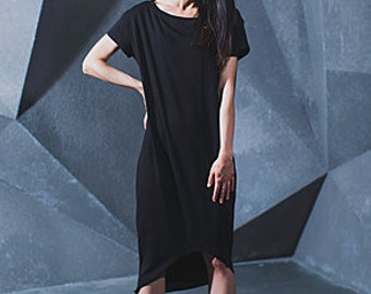 Basic soft Jersey dress with braid hollow WAVE