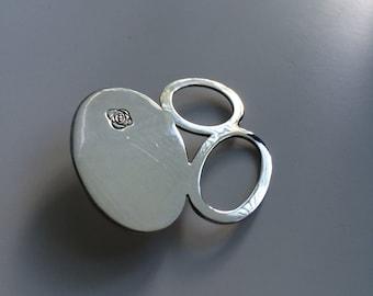 Sterling silver FABI brooch.