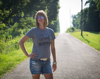 Rural Route T shirt, T shirt women, T shirt vintage, T shirt with saying, T shirt gift, gift for her, T shirt