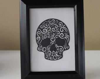 Skull, Dia De Los Muertos Picture Frame, Wall Hanging, Halloween Skull