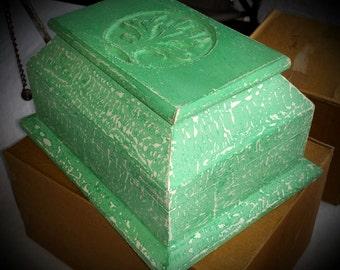 Tree Of Life Wooden Box, Trinket Box, Wooden Box, Tree of Life, Vintage Box