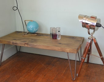 Industrial Coffee Table / End Table /Side table  Mid Century Style 100cm x 35cm