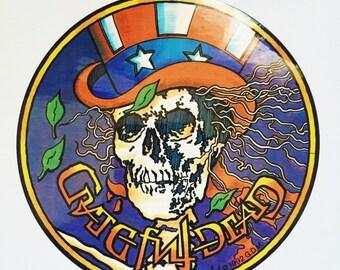 """The Grateful Dead """"Psycle Sam"""" vintage decal"""