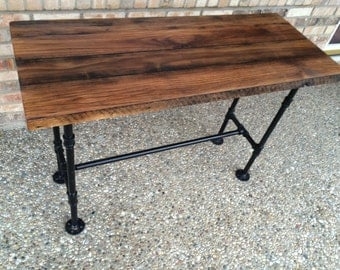 Chic Reclaimed Wood Office Desk reclaimed reception desk rustic industrial custom made chic front counter bespoke office bar restaurant coffee unit Reclaimed Kitchen Table Computer Desk Barn Wood Table Solid Oak W 28