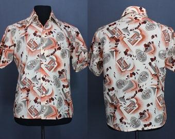 70's Disco Shirt.......70's Geo Print Disco Shirt