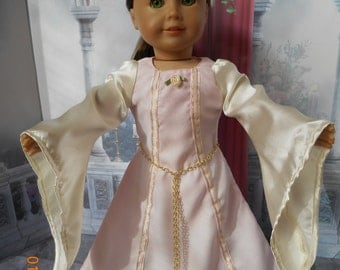 American Girl Medieval/Fantasy Style Gown in Lt. Pink and Ivory