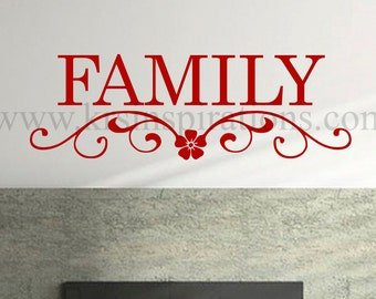 Family doorway Entrance wall decal