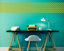 Zigzag Stencil in reusable Mylar  small to large stencil up to 19.5 x 27.5 inches 500 x 700mm. Wall, Fabric,Furniture Stencil, F