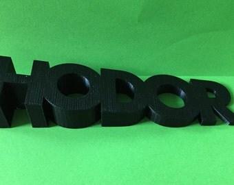 Hodor Door Stop - Hodor Doorstop - 3d Printed Hodor Door Stopper - 3D PLA printed Game Of Thrones door stop Gold Black White Red Blue