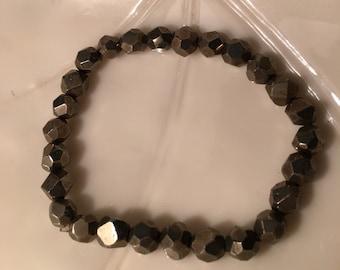Crystal - Pyrite - bracelet - fools gold
