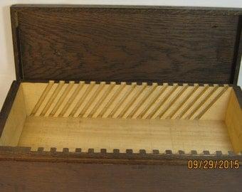 HANDMADE WOODEN BOX Walnut Stained