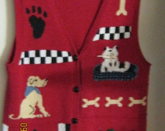 DOGS Designs RED Sweater VEST