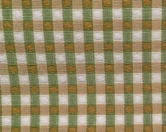 Green and Gold Small Plaid - Upholstery Fabric by the Yard