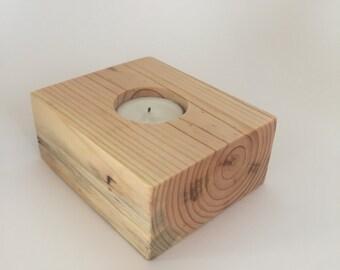 Rustic Wood Candleholder