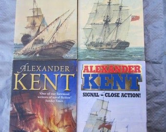 ALEXANDER KENT Novels Paperbacks x 4 Naval Themes Napoleonic Historical Fiction Richard Bolitho Royal Navy Waterloo War of Independence
