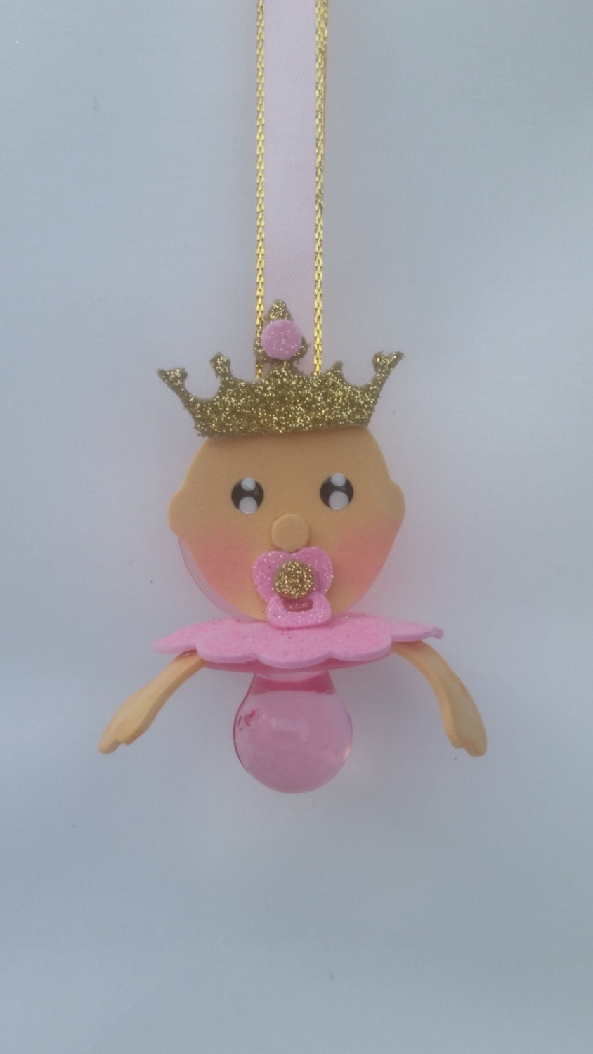 baby shower pacifier necklace royal princess theme baby