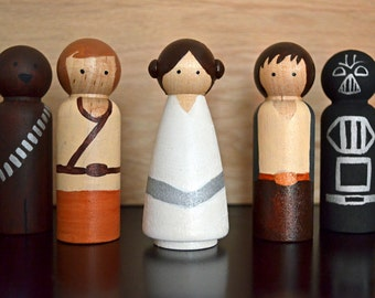 Star Wars inspired peg doll set