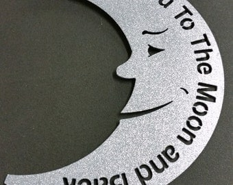 I Love You To The Moon Wall Sign