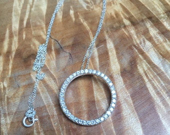 Sterling and cz circle