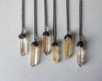 Lemurian Seed Crystal Pendants