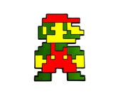 Mario Lapel Pin - High Quality Enamel / Metal Pin, Lapel Pin, Enamel Pin!  Pin it to your book bag, laptop bag, hoodie, hat, etc