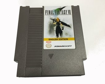 Final Fantasy VII for the NES! Nintendo - Square - Cloud - Sephiroth - RPG - Role Playing - Great Gamer Gift!