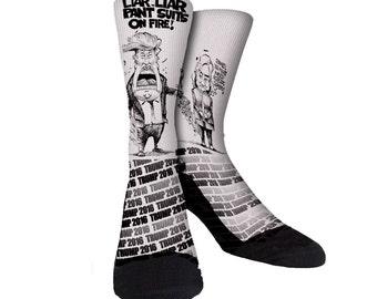 Liar Liar Trump 2016 JustSockz Crew Socks