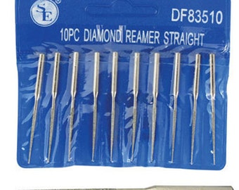 "10pc 2"" Diamond Bead Reamer Set 1/16"" x 7/8"" For Dremel Rotary Tool 1/8"" DF83510"