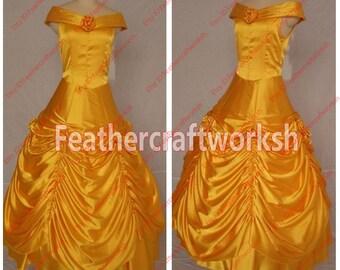 Beauty and Beast Belle Dress Belle Princess Dress Belle Cosplay Costume