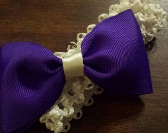 Purple baby headband