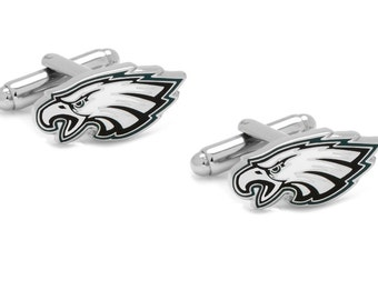 Philadelphia Eagles Cufflinks Cuff Links Best man Groomsmen Wedding Gift Father's Day Graduation Dad Birthday Football
