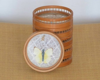 Buttefly bamboo coasters from the 70's