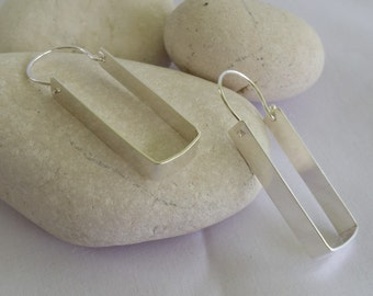 Sterling silver minimalist dangle earrings