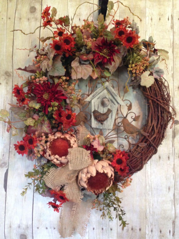 Summer Wreath Front Door Wreath Summer Door Wreath Outdoor